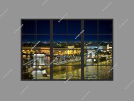 False window light 120x180cm 216W LED