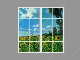 Faux windows for windowless rooms 120x120cm 144W LED