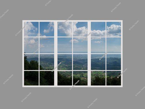 Artificial sunlight window