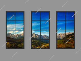 Faux LED window light 120x240cm 216W LED