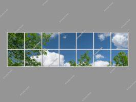 3d sky ceiling 120x420cm 504W LED