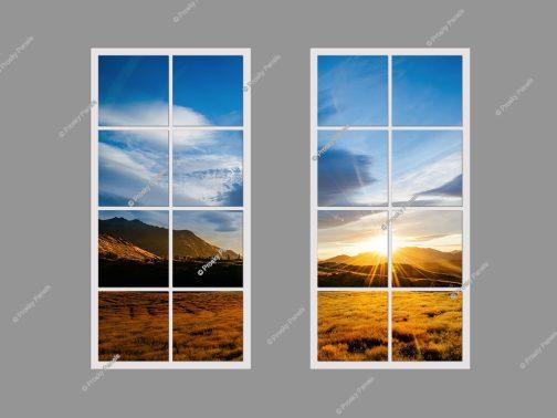 Led faux window