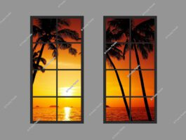 Faux windows for basement 120x150cm 144W LED