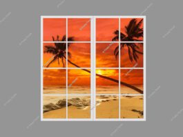 Fake window view 120x120cm 144W LED