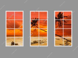 Fake window scenes 120x240cm 216W LED