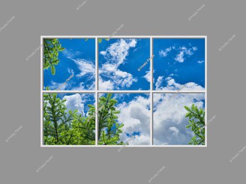 Blue sky ceiling