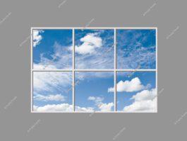 Cloud scene LED panels 120x180cm 216W LED