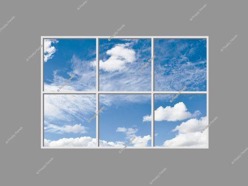 Cloud scene LED panels
