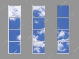 LED sky ceiling panels 240x300cm 432W LED