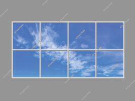 LED sky panels 120x240cm 288W LED