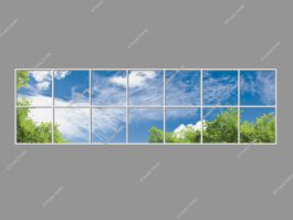 Sky ceiling light panels 120x420cm 504W LED