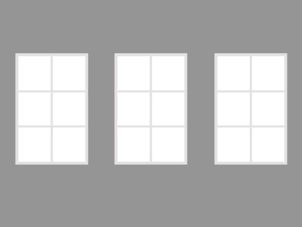 Trio 130x315cm white 18 segment