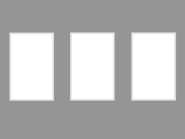 Trio 130x315cm white