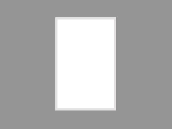 Single 85x130cm white