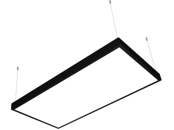 1200x600 LED panel black frame suspended