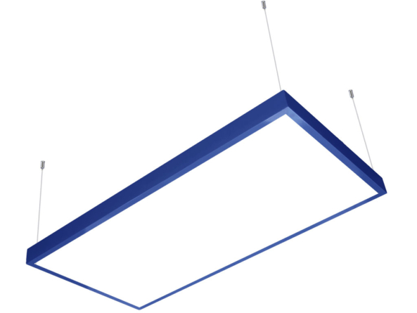 1200x600 LED panel blue frame suspended