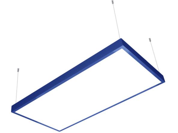 1200x600 LED panel blue frame suspended