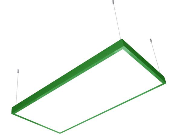 1200x600 LED panel green frame suspended