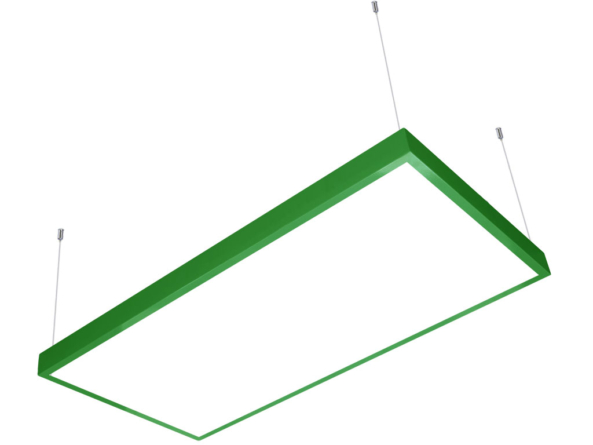 1200x600 LED panel green frame suspended