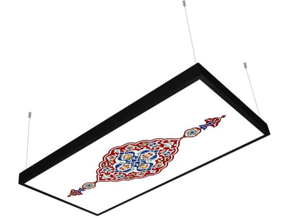 1200x600 LED panel photo print light covered 1