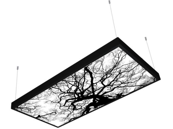 1200x600 LED panel photo print light covered 2