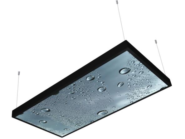 1200x600 LED panel photo print light covered 3