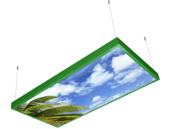 1200x600 LED panel photo print light covered 4