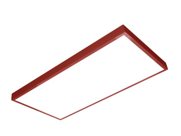 1200x600 LED panel red frame