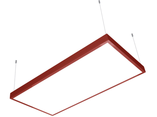 1200x600 LED panel red frame suspended