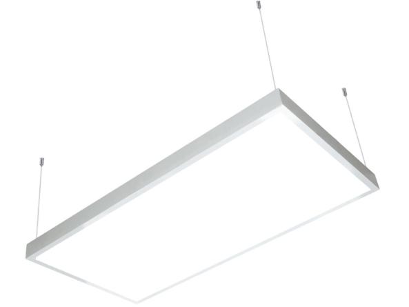 1200x600 LED panel white frame suspended