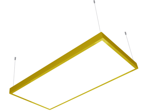 1200x600 LED panel yellow frame suspended