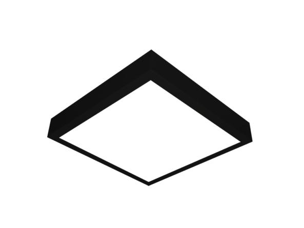 400x400 led panel surface mount black