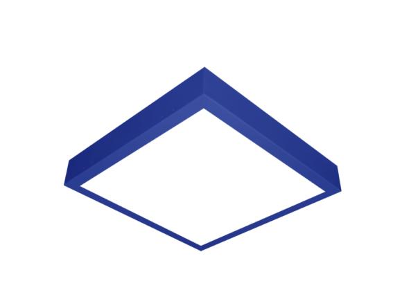 400x400 led panel surface mount blue