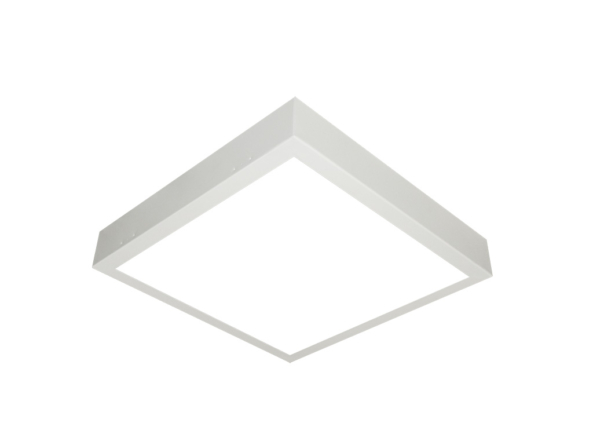 400x400 led panel surface mount white