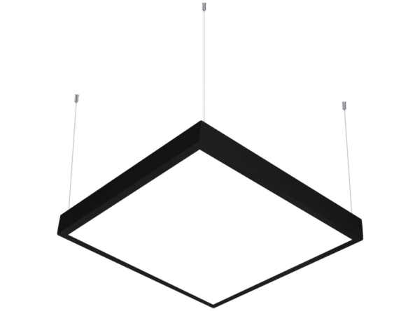 600x600 LED panel suspended black