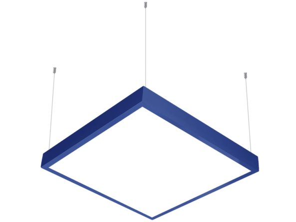 600x600 LED panel suspended blue
