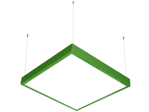 600x600 LED panel suspended green