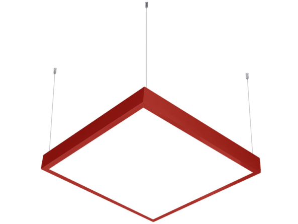 600x600 LED panel suspended red