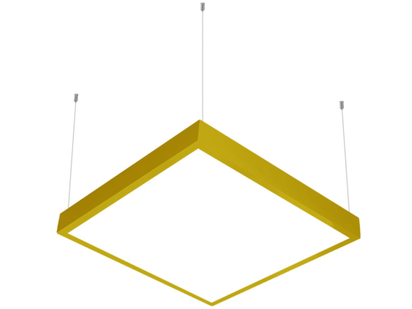 600x600 LED panel suspended yellow