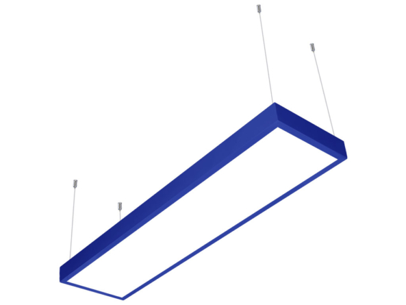 LED panel 1200x300 blue frame suspended