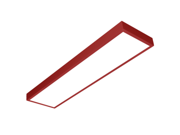 LED panel 1200x300 red frame