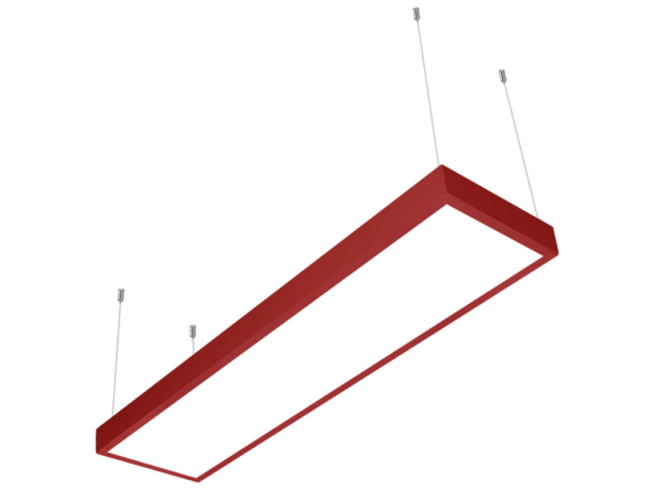 LED panel 1200x300 red frame suspended