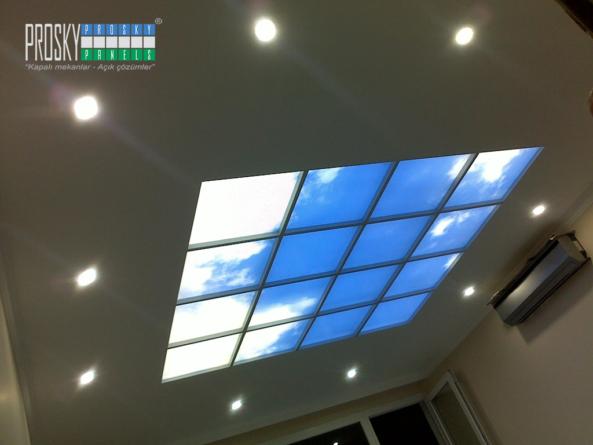 blue sky ceiling design