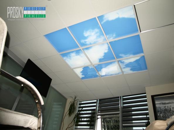 blue sky ceiling tiles