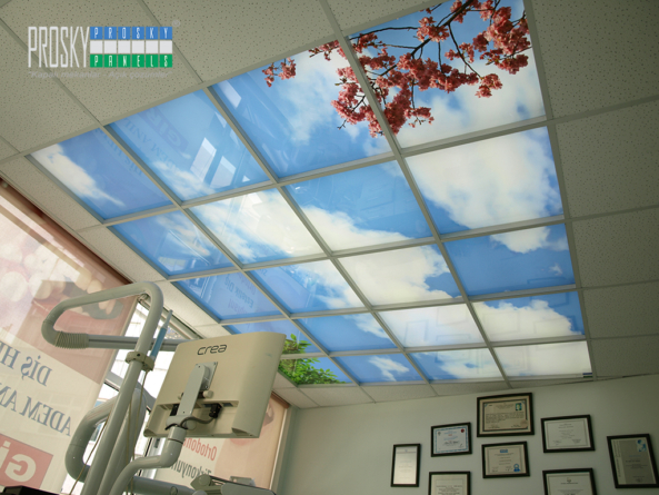clouds on ceiling